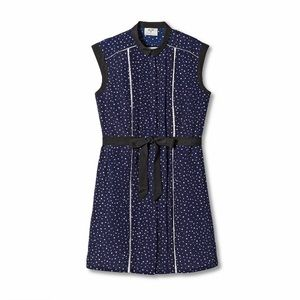 Jason Wu Polka Dot Sleeveless Collared Shift